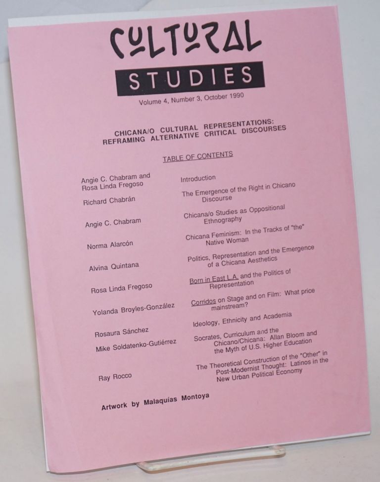 Cultural Studies vol. 4, number 3, October 1990 [handbill