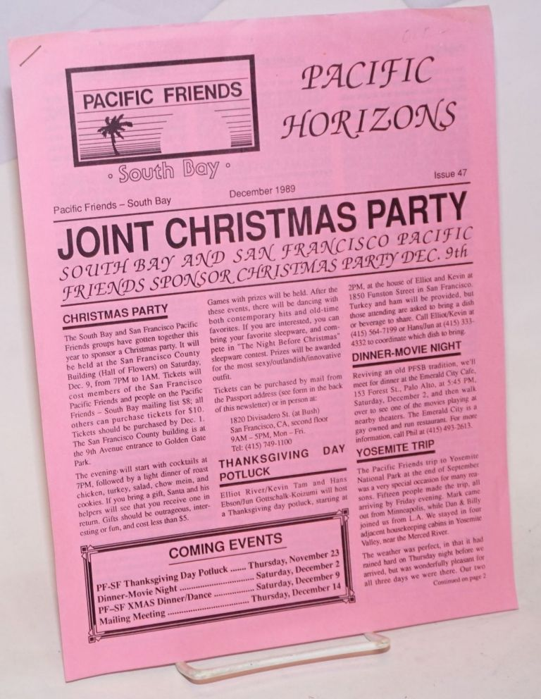 Pacific Horizons: Pacific Friends - South Bay newsletter #47, December 1989