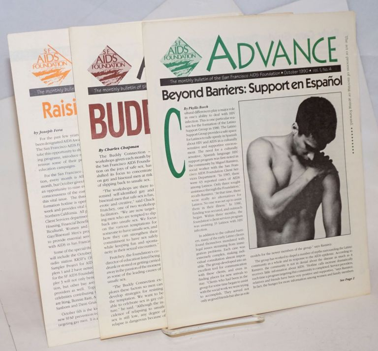 Advance: the monthly bulletin of SF AIDS Foundation Three issues