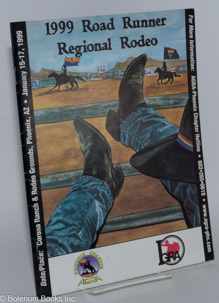 1999 Roadrunner Regional Rodeo souvenir program, Corona Ranch & Rodeo Grounds, Phoenix, AZ, Jan. 15-17, 1999
