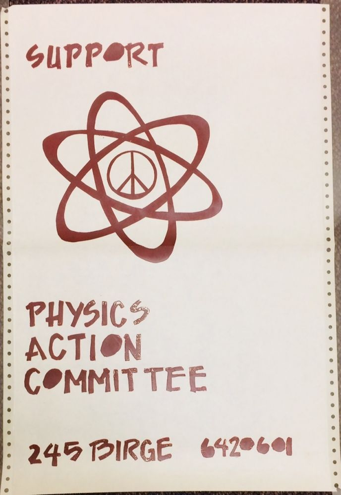 Support Physics Action Committee / 245 Birge. 6420601 [poster]