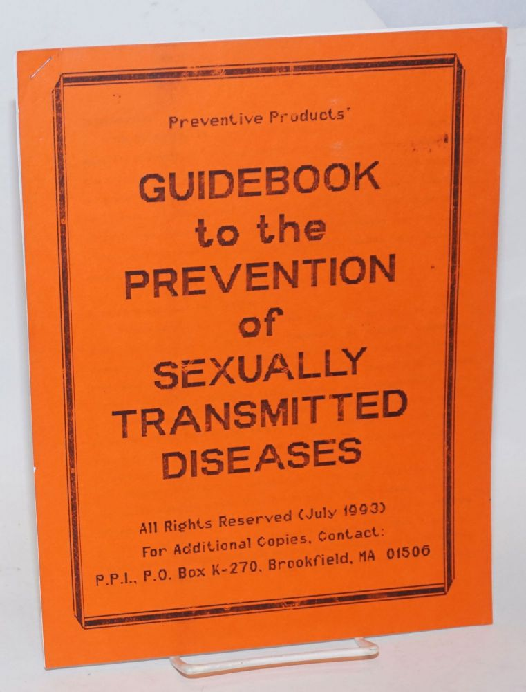 Preventative Products Guidebook to the Prevention of Sexually Transmitted Diseases