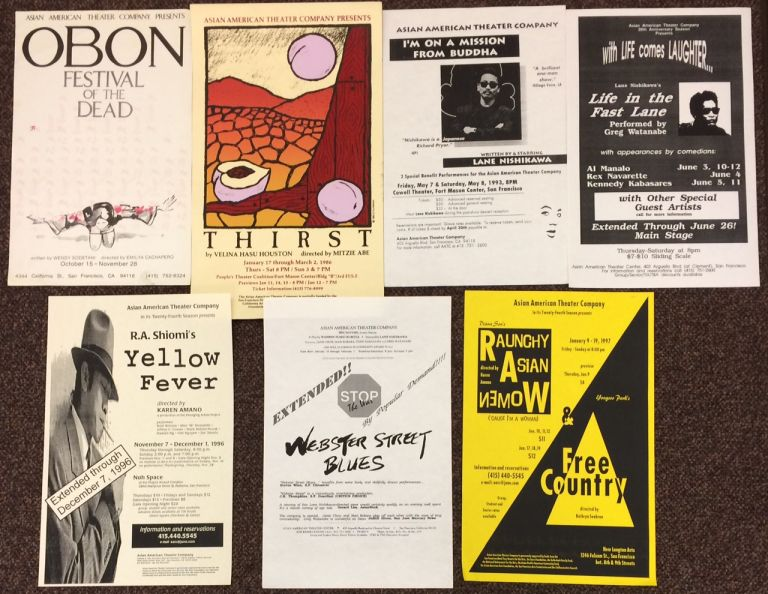 [Posters for seven different plays]. Asian American Theater Company.