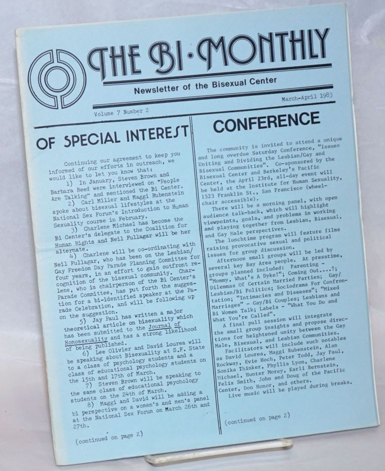 The Bi-monthly: newsletter of the Bisexual Center; vol. 7, #2, Mar/April 1983