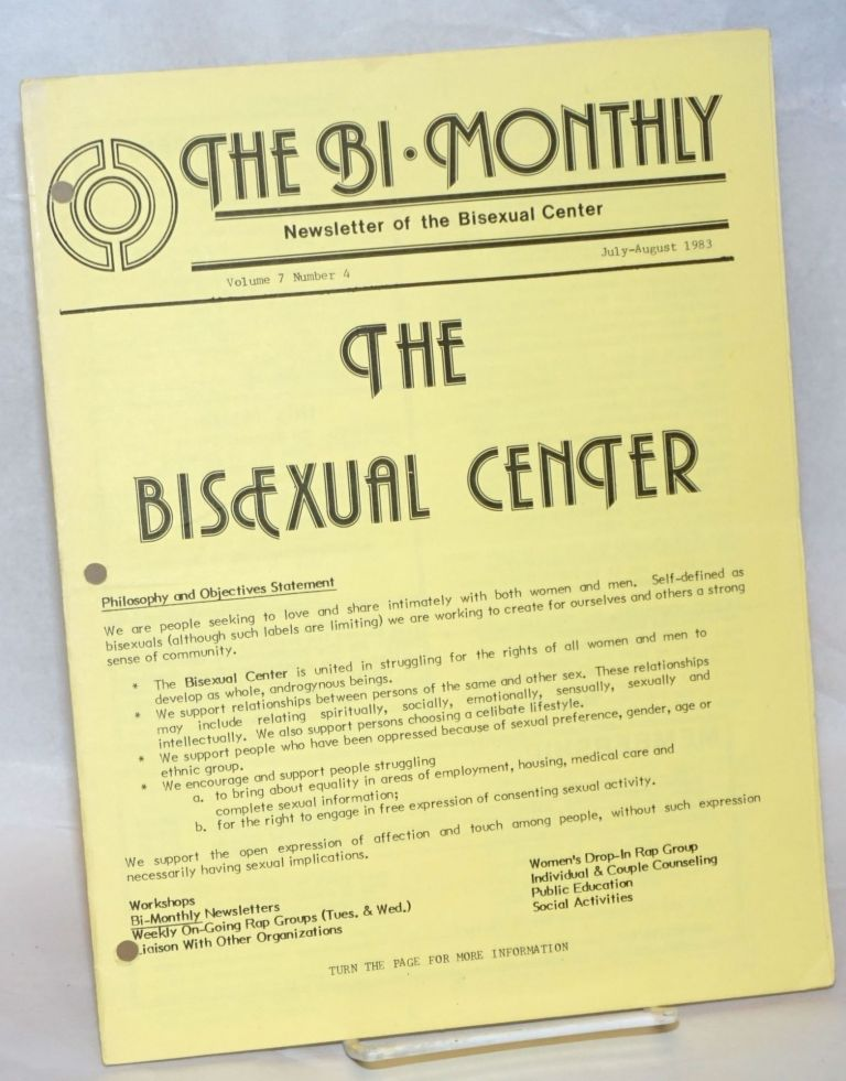 The Bi-monthly: newsletter of the Bisexual Center; vol. 7, #4, Jul/Aug 1983