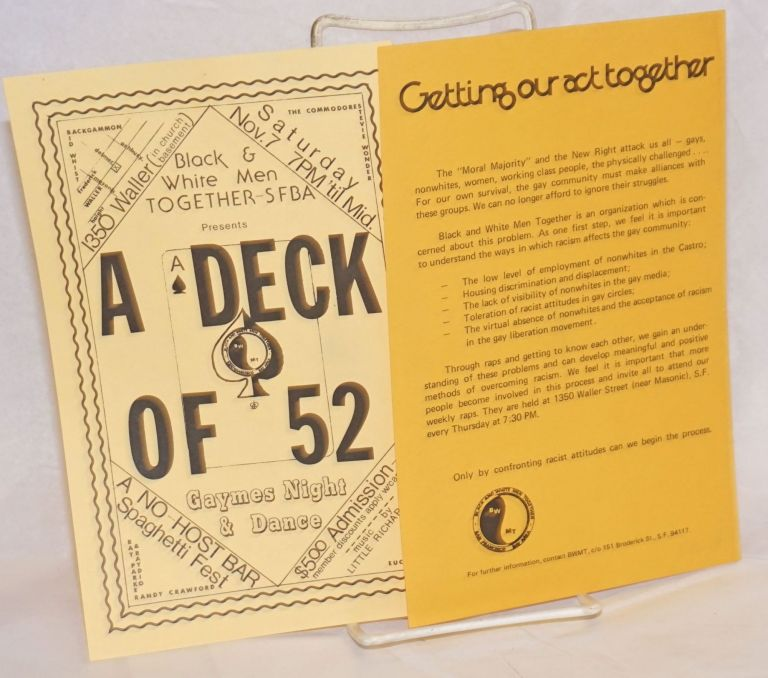 Black & White Men Together - SFBA: A Deck of 52 &Getting Our Act Together [two leaflets]
