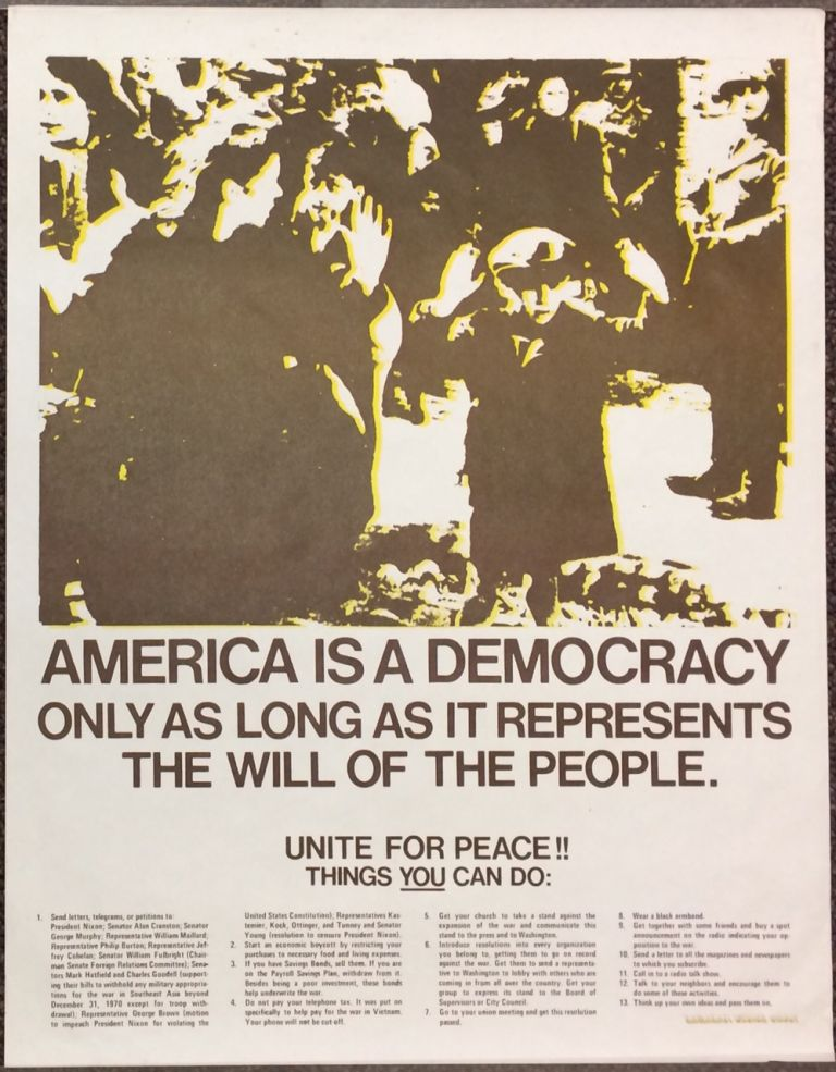 America is a Democracy Only as Long as it Represents the Will of the People [poster]