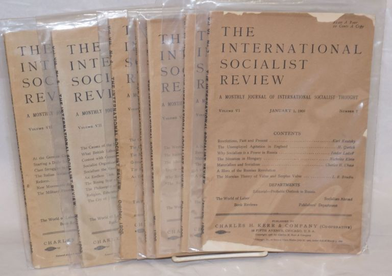 The international socialist review [seven issues from 1906]