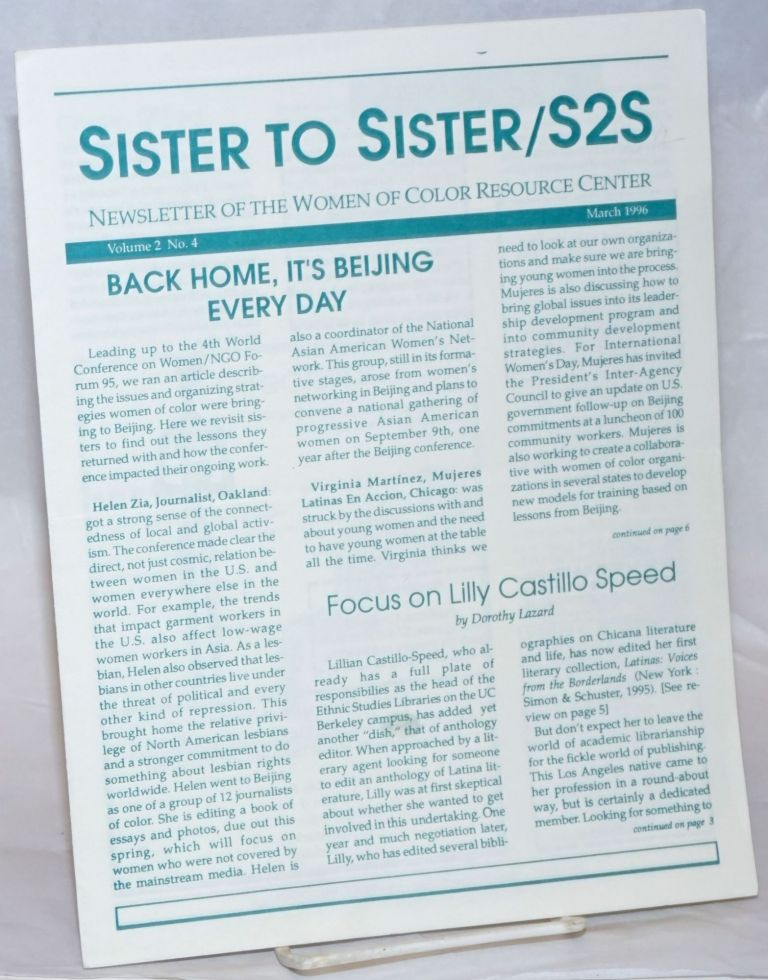 Sister to Sister/S2S: newsletter of the Women of Color Resource Center
