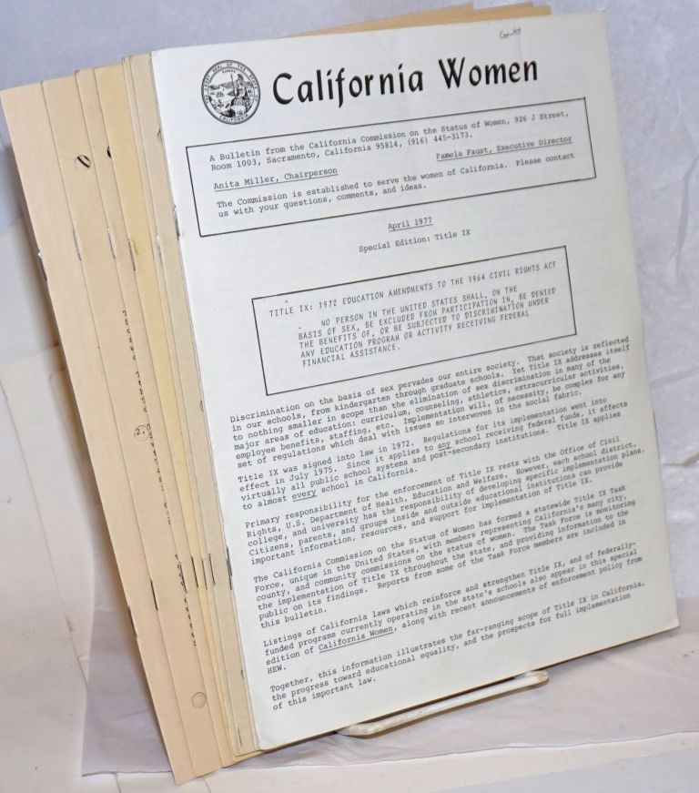 California Women: a bulletin [8 issue broken run]