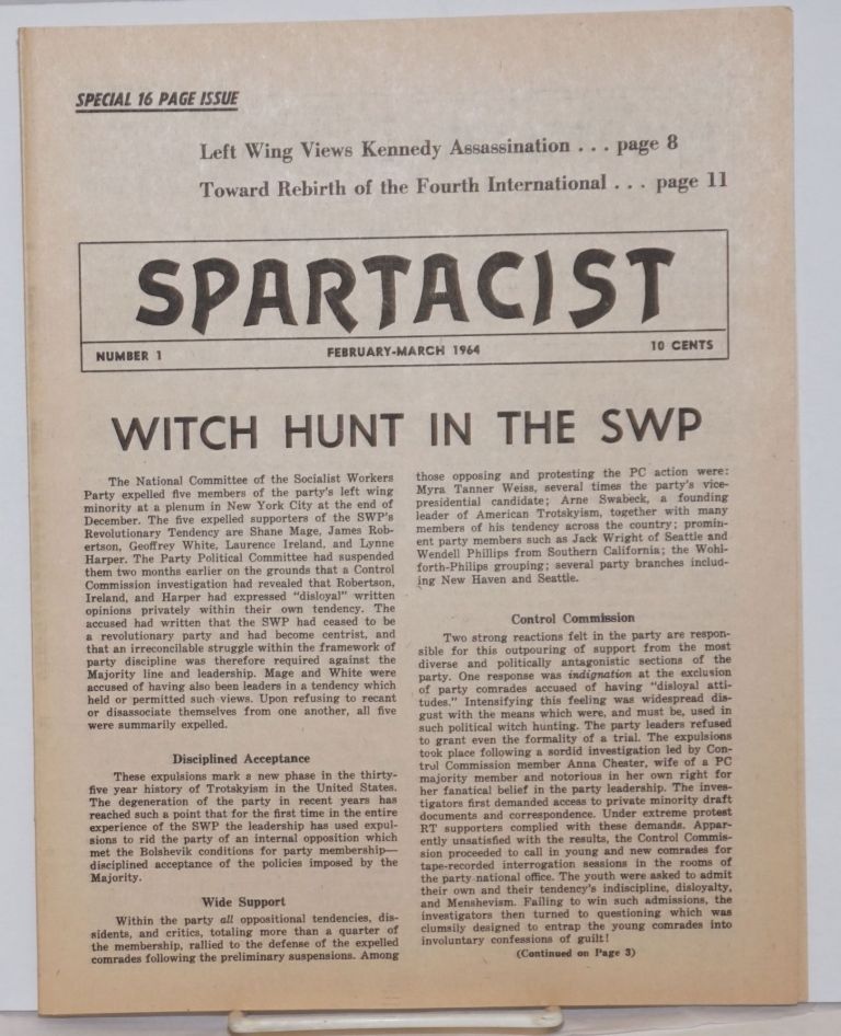 Spartacist. Number 1 (February-March 1964). Spartacist League.
