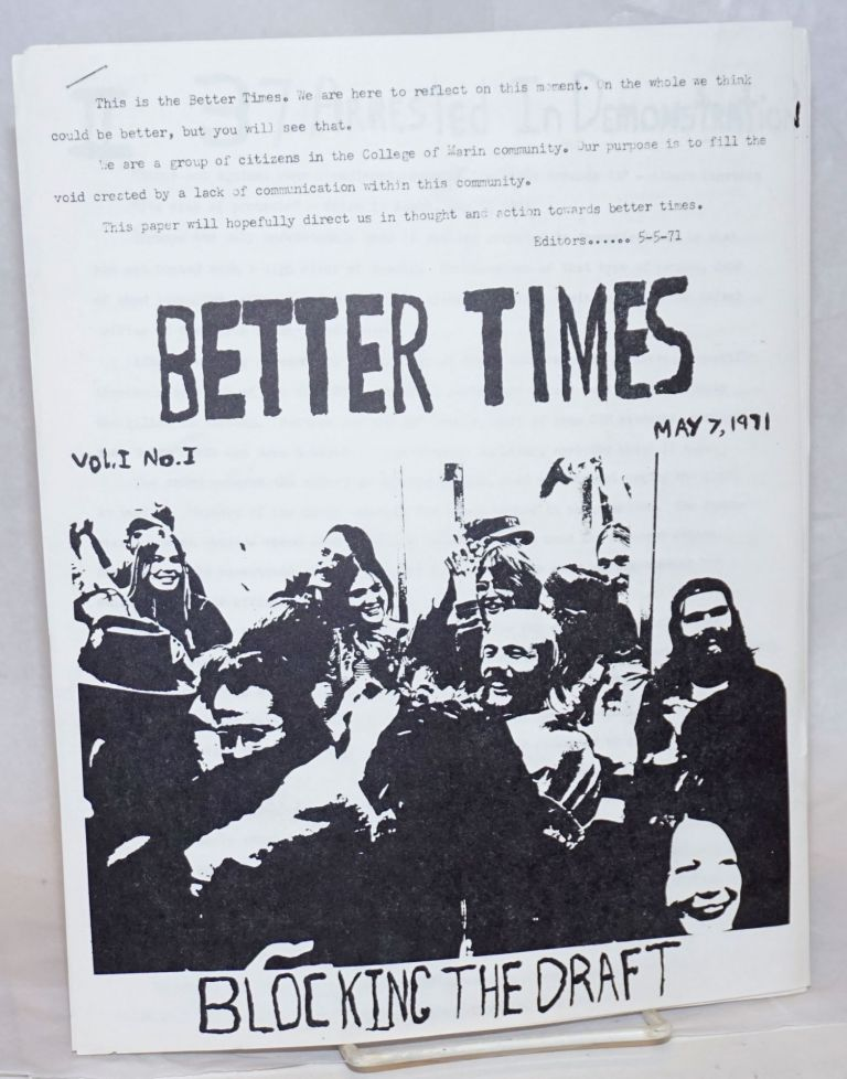 Better Times. Vol. 1, no. 1 (May 7, 1971)