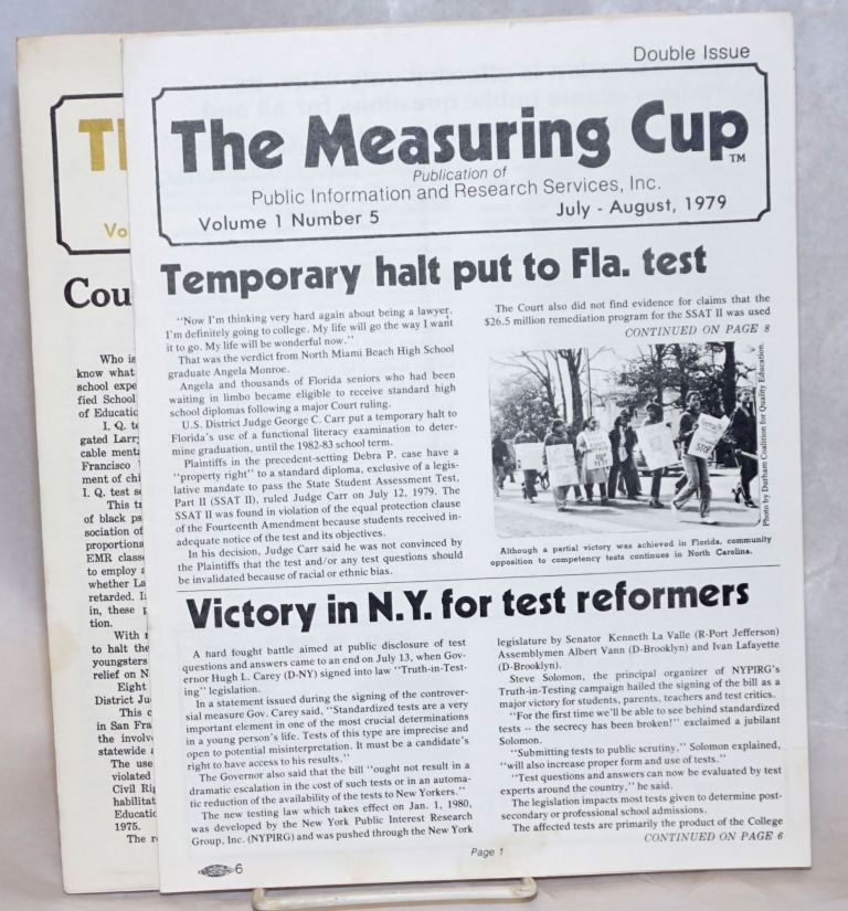 The Measuring Cup [Vol. 1 no. 5 and no. 7, two issues]