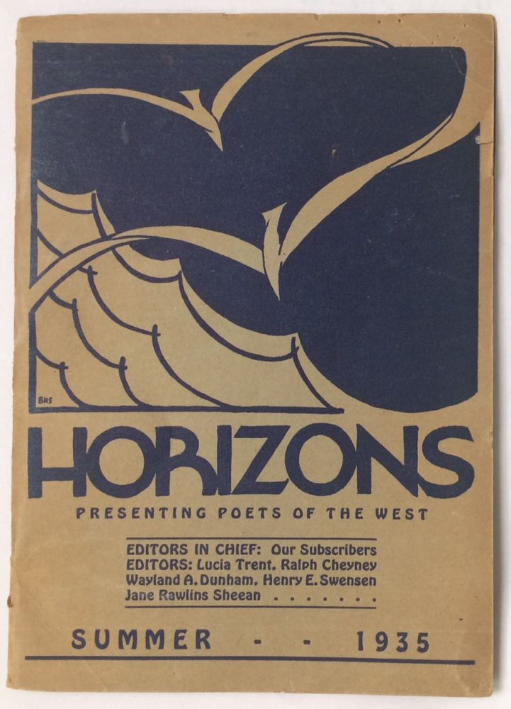 Horizons: presenting poets of the west. Summer 1935