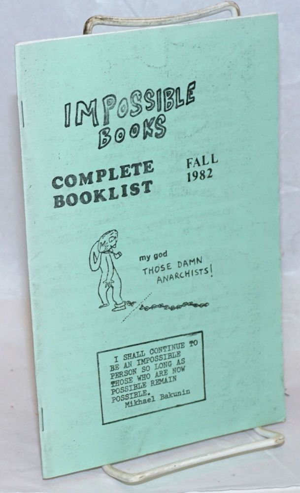 Impossible Books, complete booklist, Fall 1982