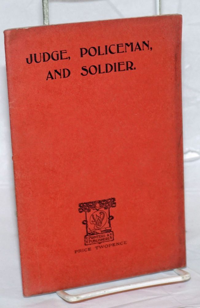 Judge, Policeman, and Soldier: A Comparison of International with National Methods of Dealing with Offences and Disputes. Joseph Edmondson.