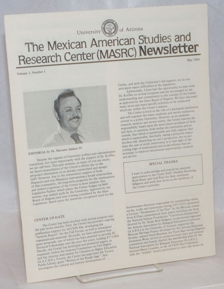 The Mexican American Studies and Research Center (MASRC) Newsletter: vol. 2, #1, May 1983