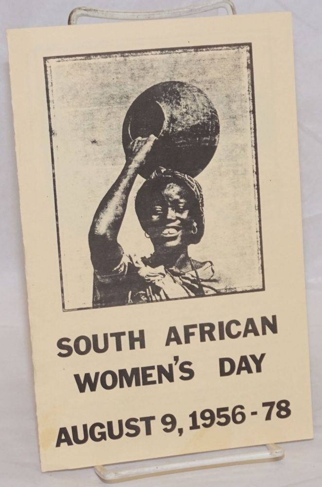 South African Women's Day. Aug. 9, 1956-78
