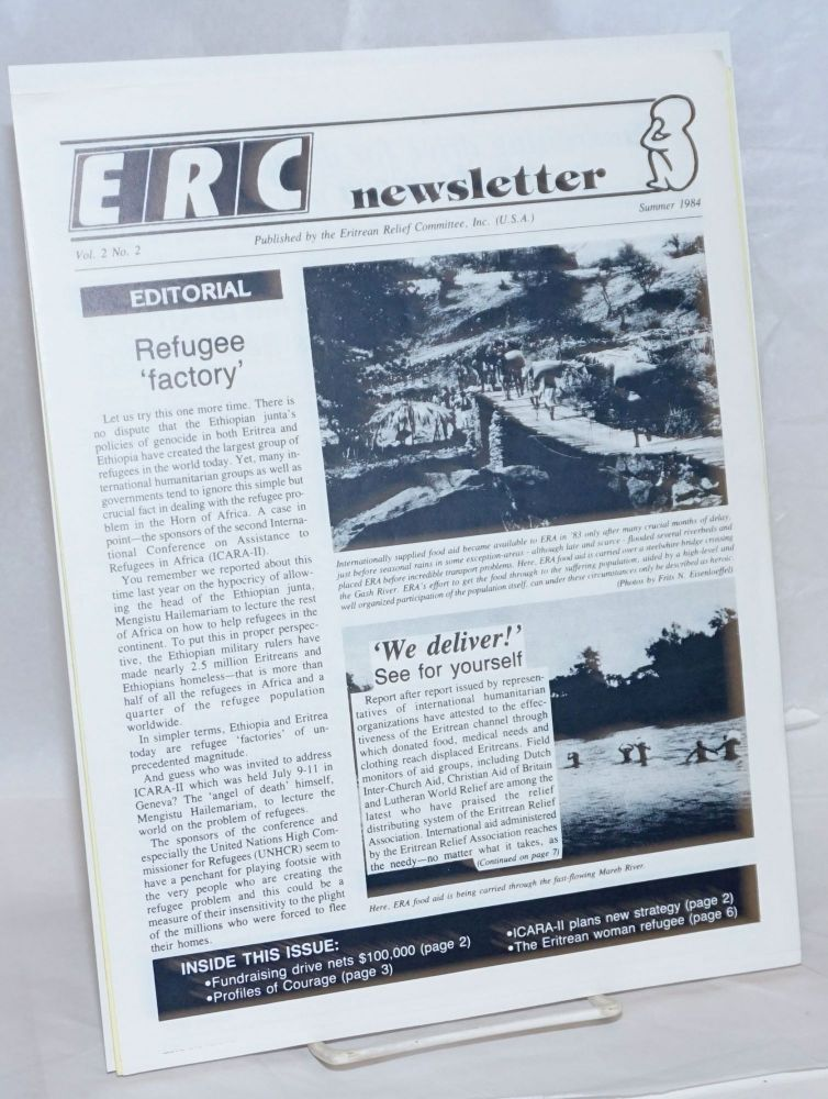 ERC newsletter [two issues]. Eritrean Relief Committee.