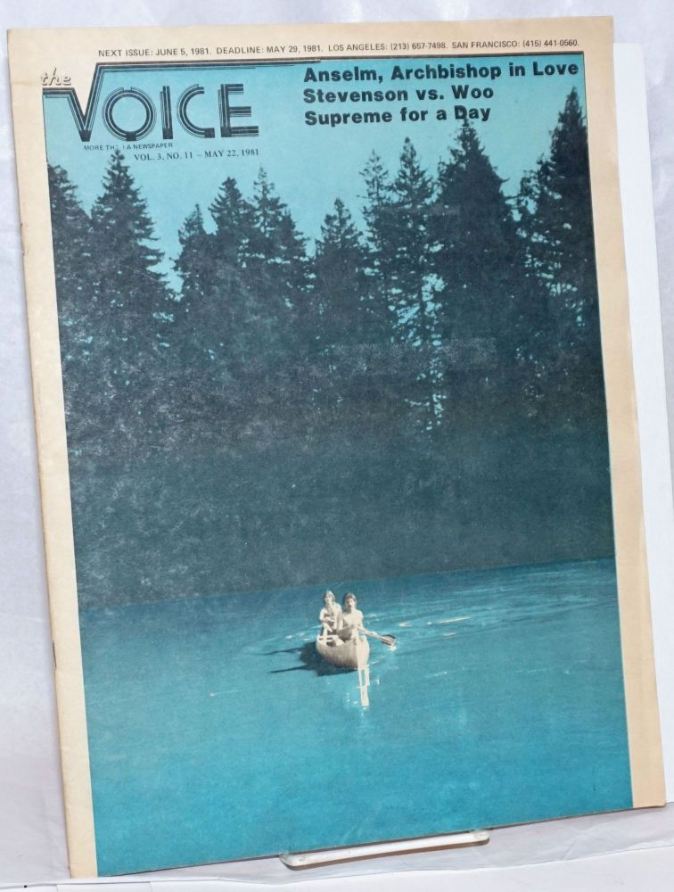 The Voice: more than a newspaper; vol. 3, #11, May 22, 1981; Anselm, Archbishop for a day. Paul D. Hardman, James Baily Milton Marks, Donald McLean, Quentin Kopp.