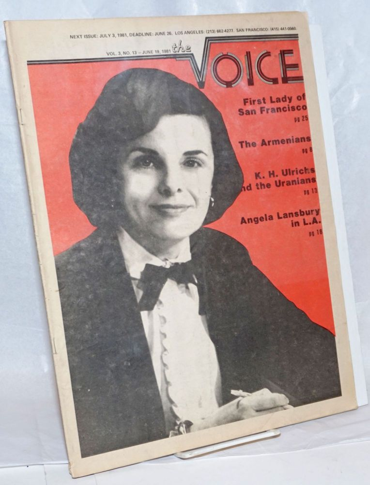 The Voice: more than a newspaper; vol. 3, #13, June 19, 1981; Dianne Feinstein; First Lady of San Francisco. Paul D. Hardman, James Baily Milton Marks, Donald McLean, Quentin Kopp.