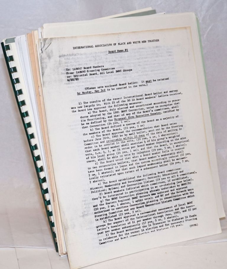 Collection of newsletters, quarterlies and other materials. International, National Association of Black, White Men Together.