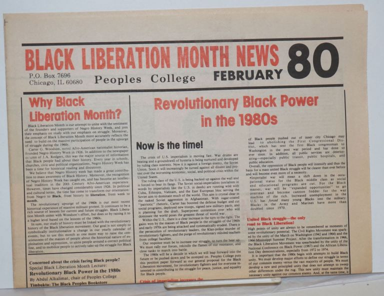 Black Liberation Month News. February '80