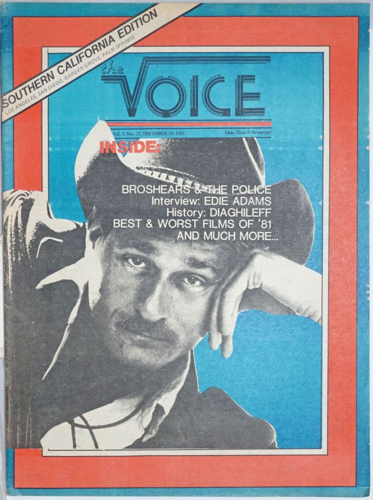 The Voice: more than a newspaper; vol. 3, #27, December 30, 1981 Southern California Edition. Paul D. Hardman, Senator Milton Marks Quentin Kopp, E. Lee Clifton.