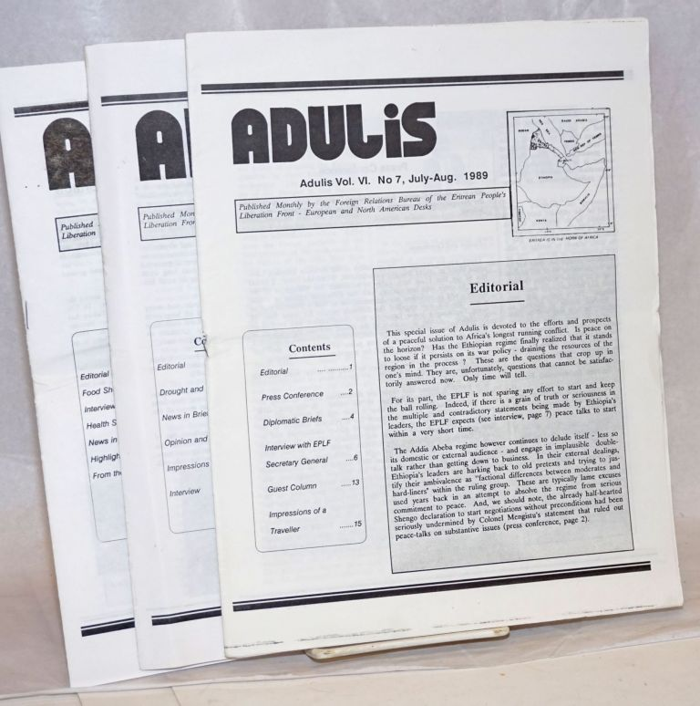 Adulis [three issues]
