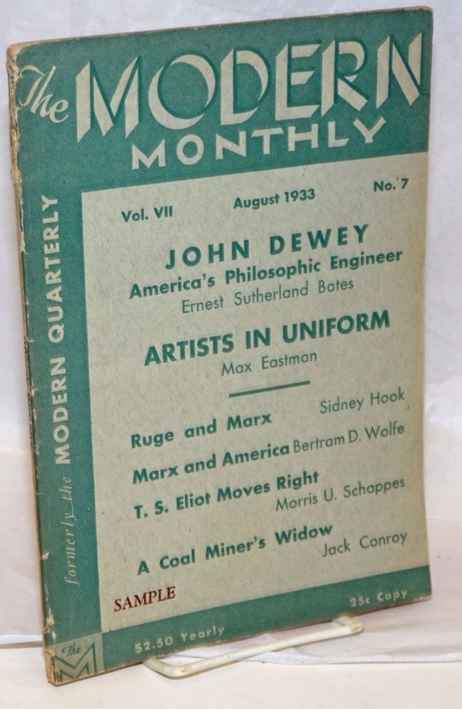 The modern monthly, vol. 7, no. 7, August 1933. V. F. Calverton, ed.