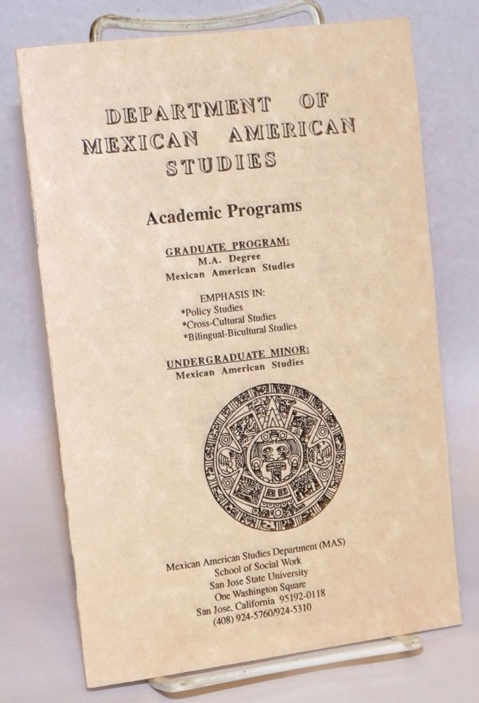 Department of Mexican Studies: Academic Programs [pamphlet/brochure
