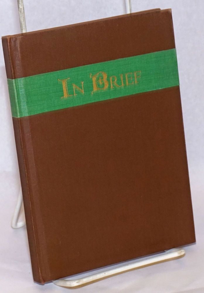 In Brief. George Hedley.