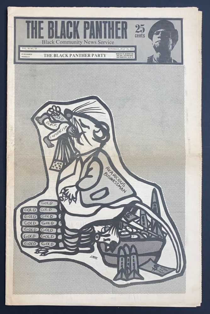 The Black Panther Black Community News Service vol  III, no  13 July 19,  1969 on Bolerium Books