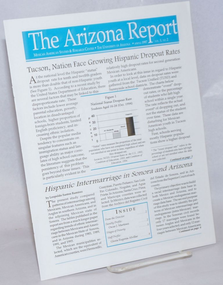 The Arizona Report: Mexican American Studies & Research Center newsletter; vol. 1, #2, Spring 1997