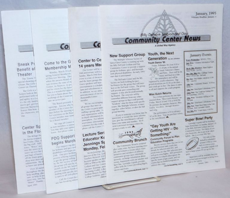 The Billy DeFrank Lesbian & Gay Community Center News [4 issues]. Eileen H.
