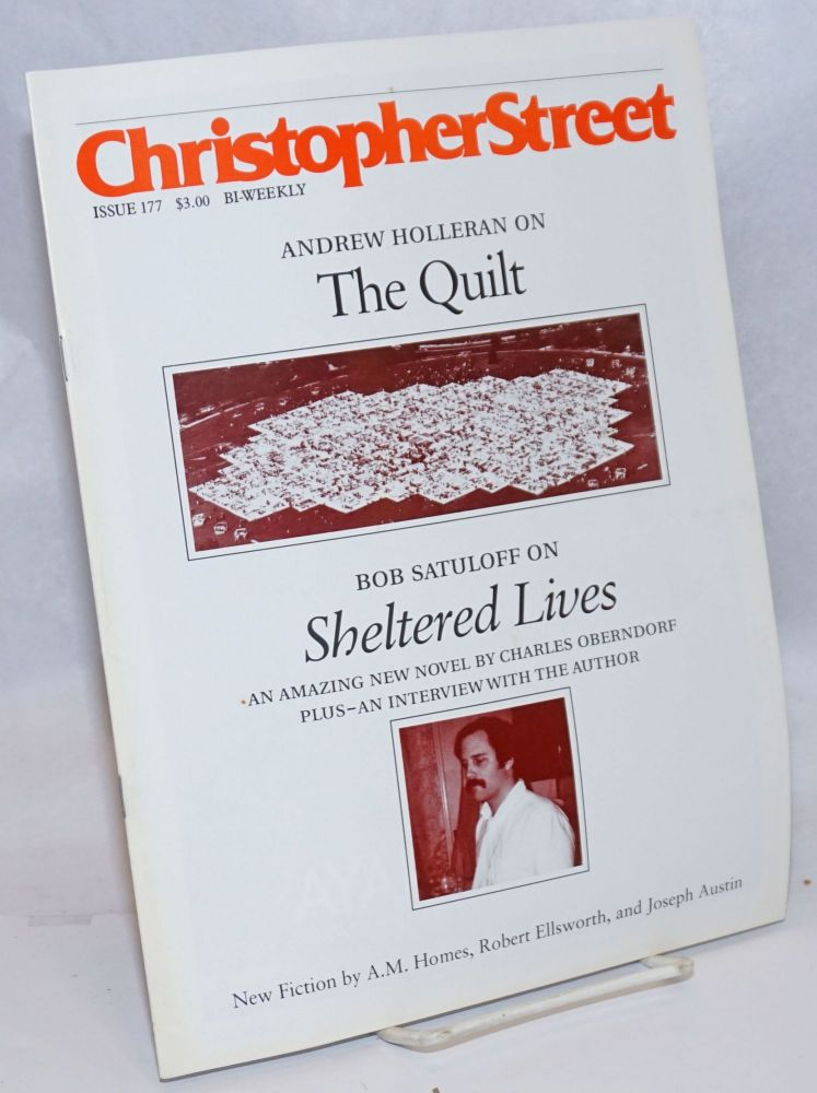 Christopher Street: vol. 14, #18, April 27, 1992, Whole Number 177. Charles L. Ortleb, publisher.