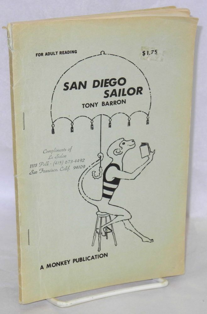 San Diego sailor. Tony Barron.