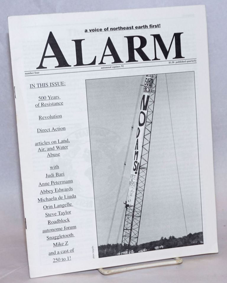 Alarm: A Voice of Northeast Earth First!; Number four, autumnal equinox 92