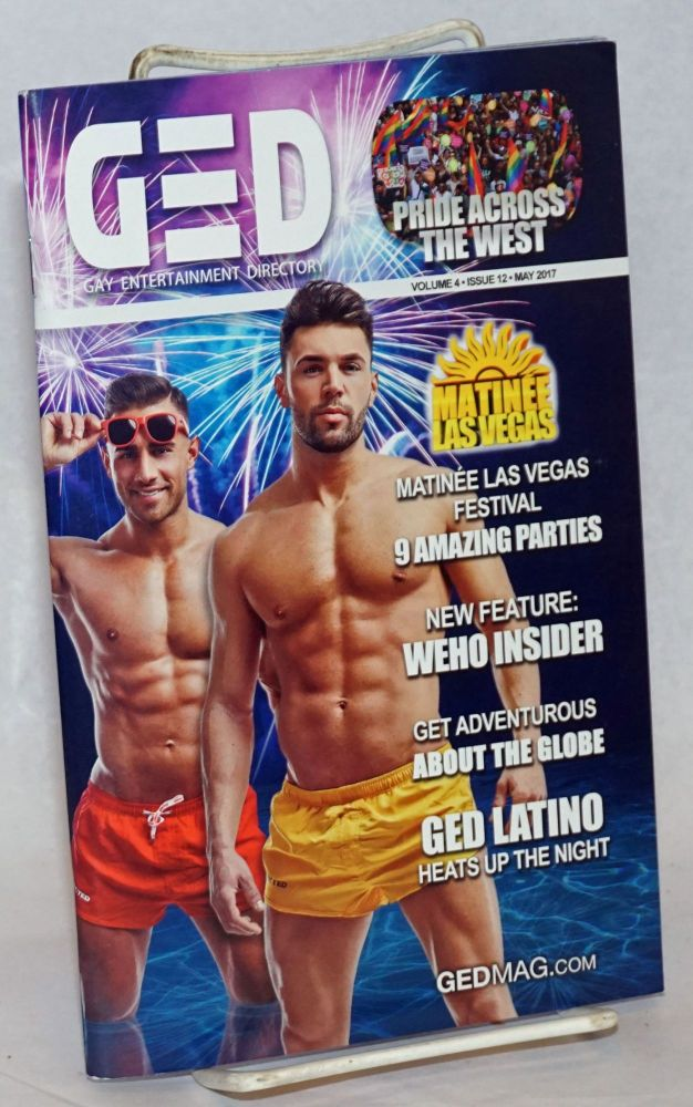 GED: Gay Entertainment Directory Year 4, #12, May, 2017: GED Latino. Michael Westman.