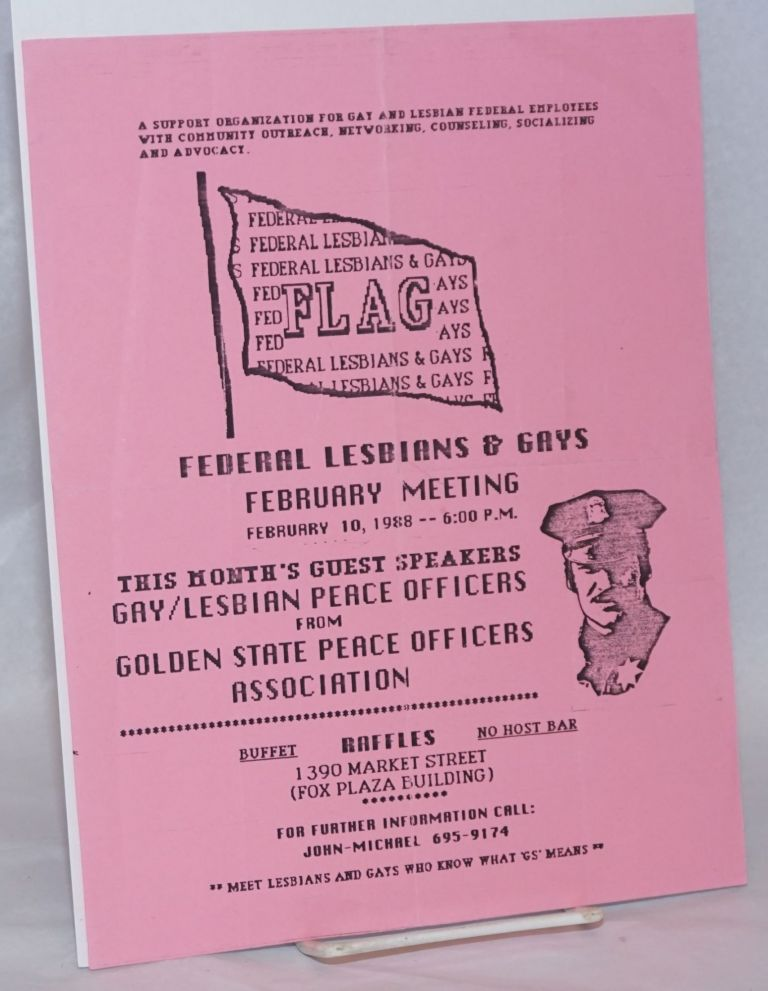 FLAG: Federal Lesbians and Gays February Meeting [handbill]