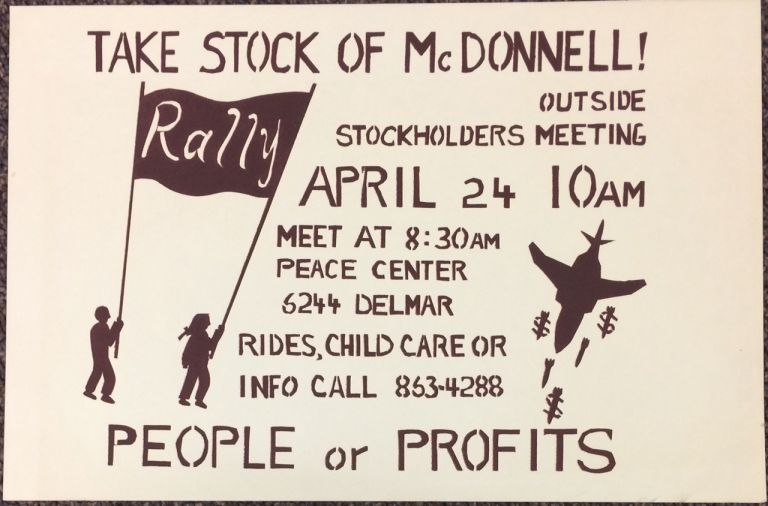 Take stock of McDonnell! Outside stockholders meeting... People or Profits [poster]