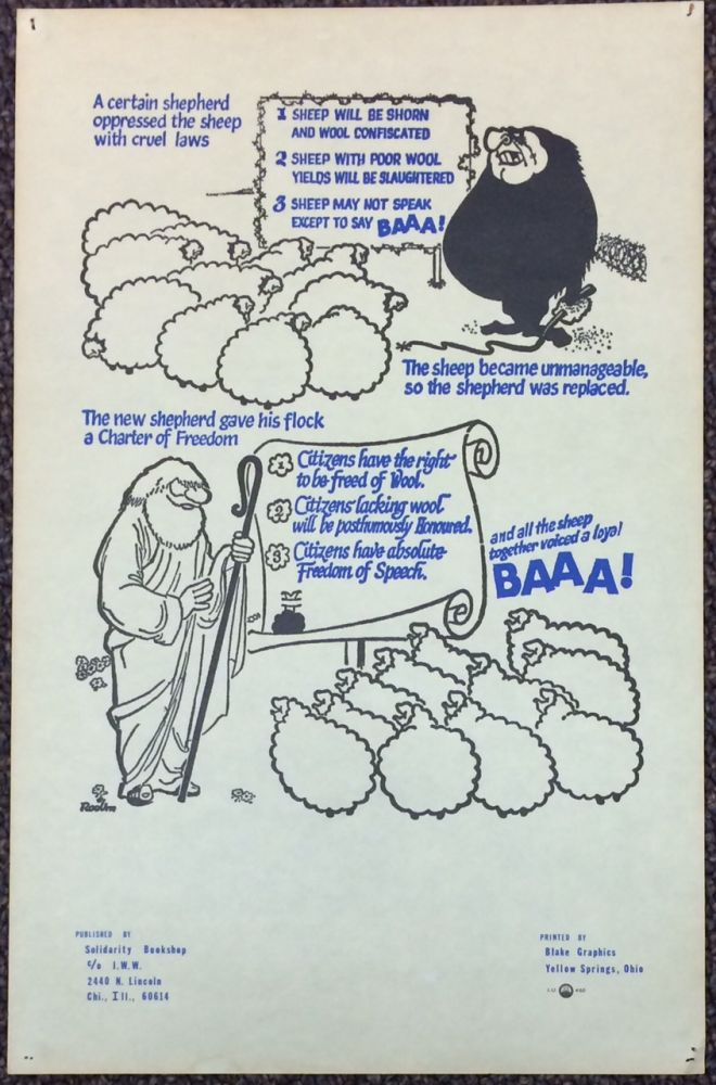 A certain shepherd oppressed the sheep with cruel laws    poster on  Bolerium Books