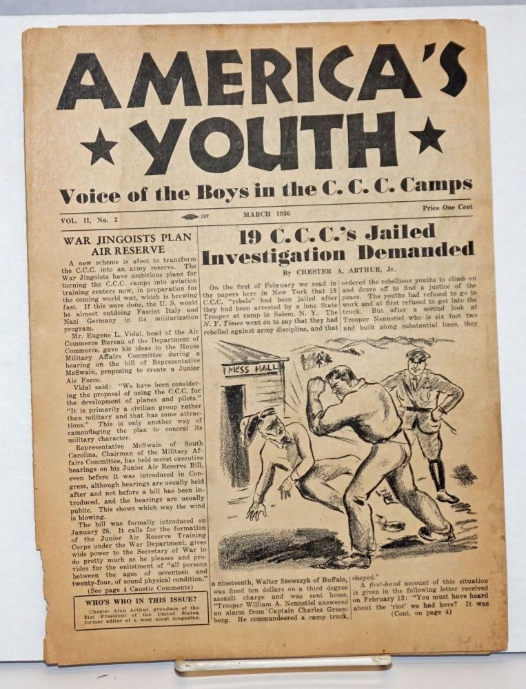 America's youth, voice of the boys in the C.C.C. Camps. Vol. 3, no. 2, March 1936. Chester Alan III aka Gavin Arthur Arthur.
