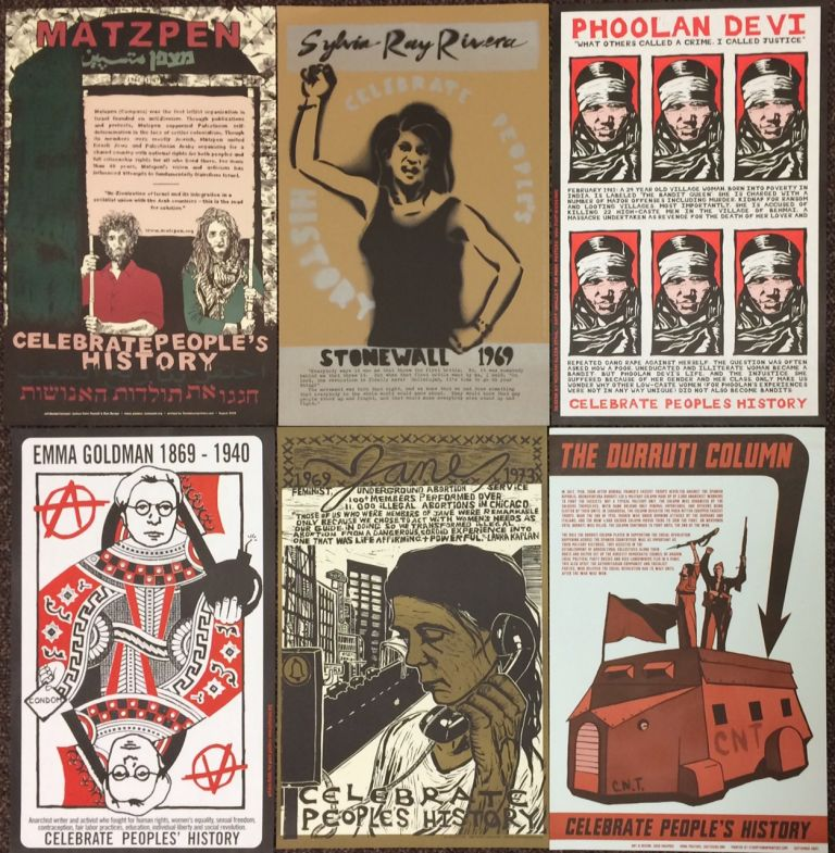"""[Six different posters from the """"Celebrate People's History"""" series]"""