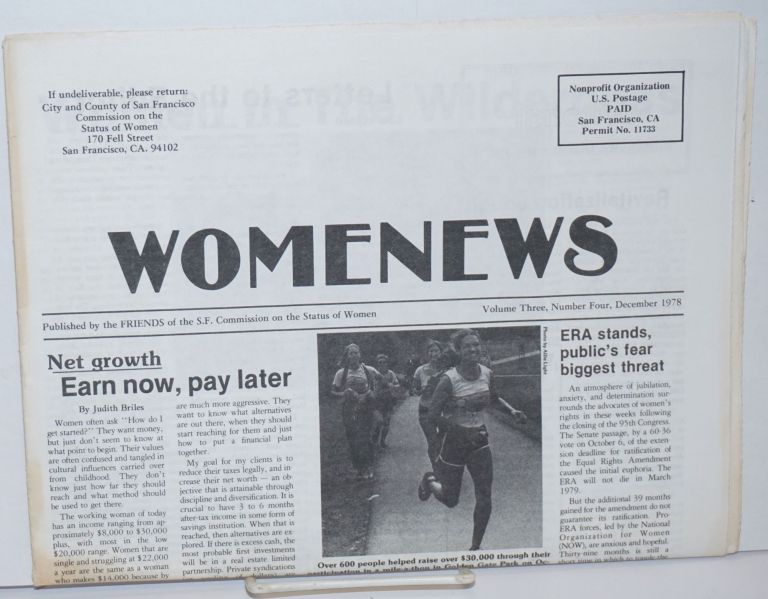 WomeNews :Published by the FRIENDS of the S.F. Commission on the Status of Women; Volume 3, Number 4, December 1978