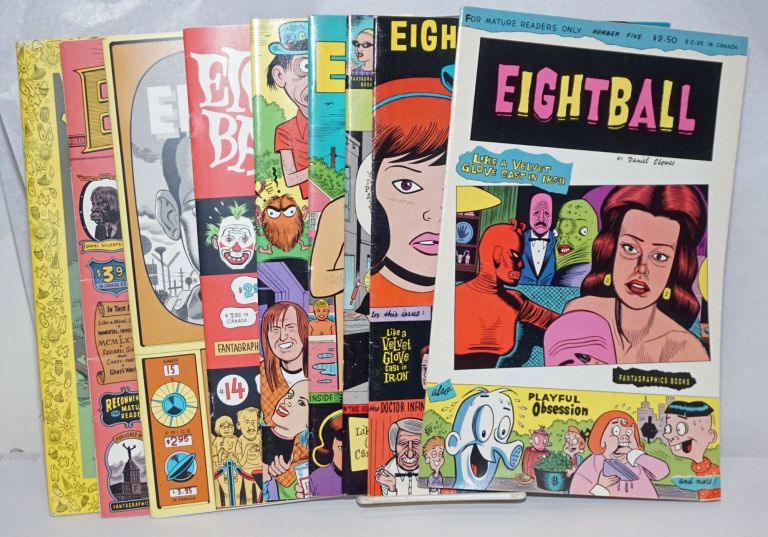 Eightball [9 issues] Nos. 5, 6, 8, 9, 11, 14, 15, 16, 19. Daniel Clowes.