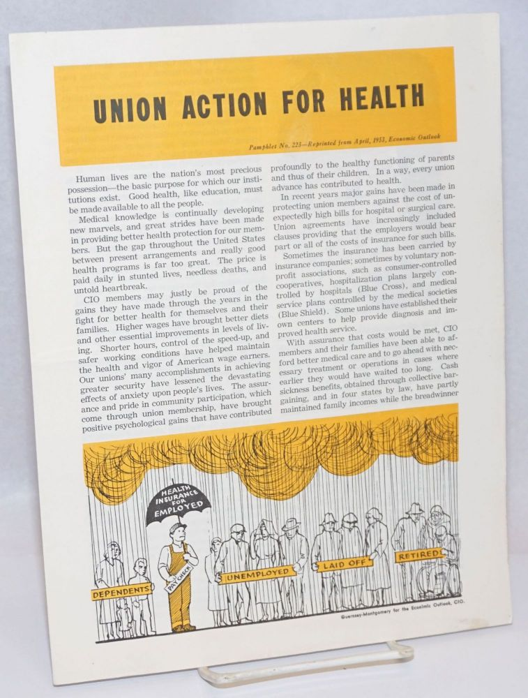 Union action for health. Congress of Industrial Organizations.