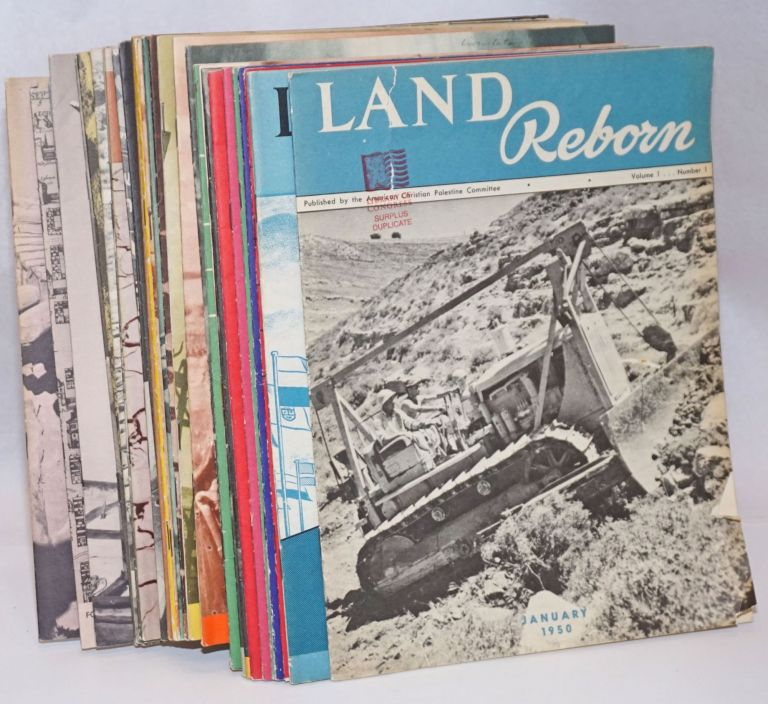 Land Reborn [39 issues]. American Christian Palestine Committee.