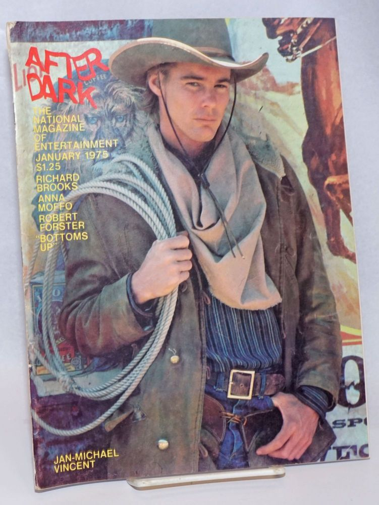 After Dark: the national magazine of entertainment vol. 7, #9, January 1975: Jan-Michael Vincent. Como. William, Richard Brooks Jan-Michael Vincent, Peter Allen, Robert Forster.