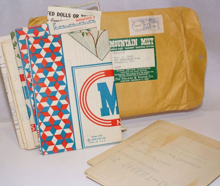 """Mountain Mist, Needle-easy """"Glazene"""" Quilting Cotton [items in a packet]. Betty. Stearns Mickam, Foster Company."""